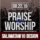 Praise and Worship Flyer / Poster - GraphicRiver Item for Sale