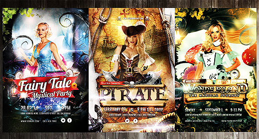 Costume Party Flyers