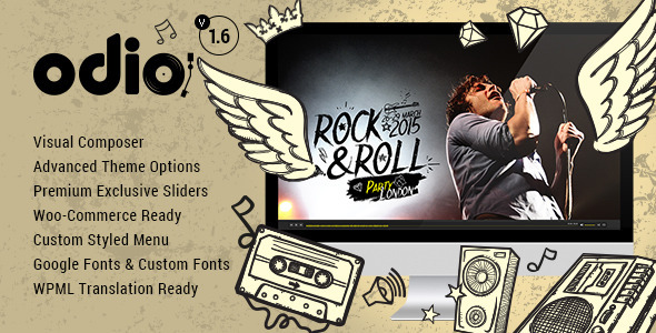 Odio – Music WP Theme For Bands, Clubs, and Musicians