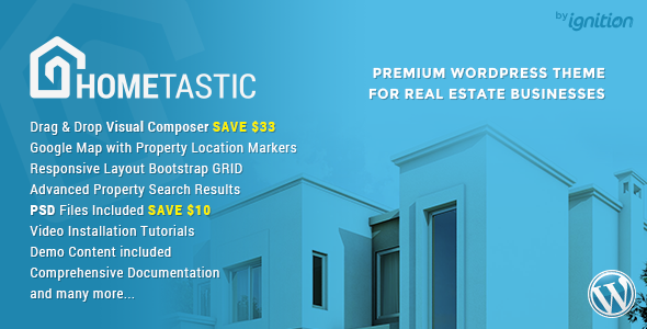 Hometastic – Real Estate WordPress Theme
