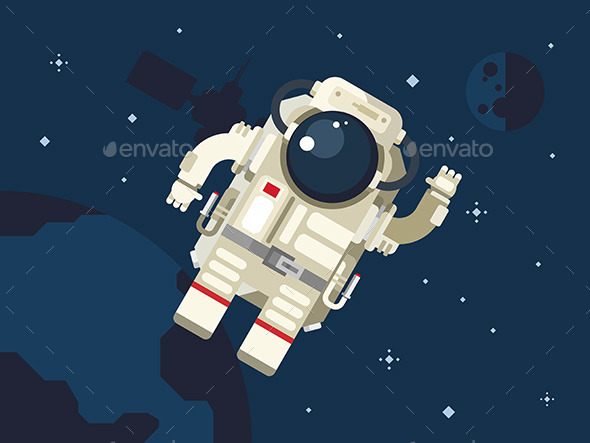 Astronaut In Outer Space - Technology Conceptual