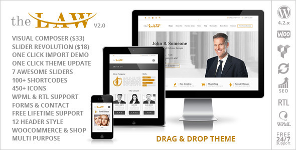 The Law – Lawyer Legal Attorney Responsive WP Theme