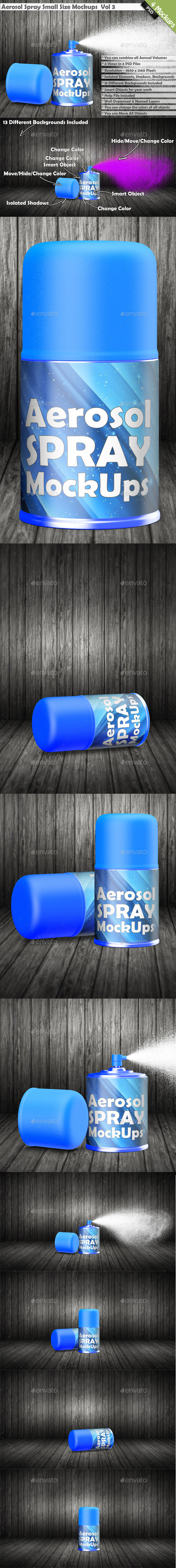 Aerosol Spray Can Mockup - Miscellaneous Packaging