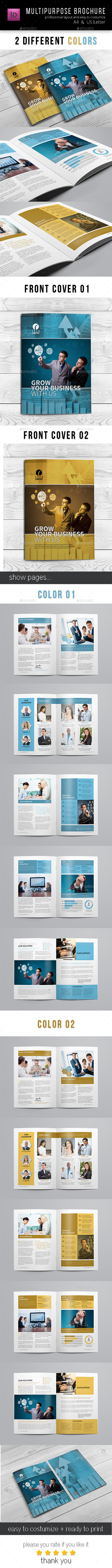 Corporate Business Brochure 12 pages A4 + Letter - Corporate Brochures