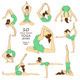 Set of Isolated Yoga Poses - GraphicRiver Item for Sale