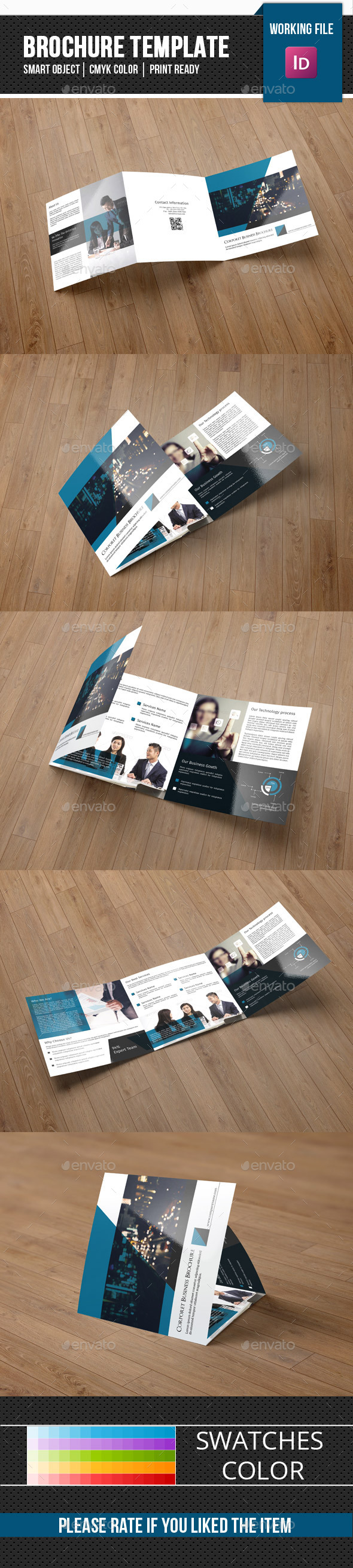 Business Square Trifold Brochure-V68 - Corporate Brochures