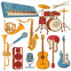 Set of Isolated Colorful Musical Instruments - GraphicRiver Item for Sale