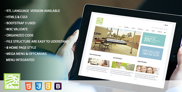 Decor – HTML5 Versatile Template