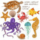 Set of Isolated Sea Animals - GraphicRiver Item for Sale