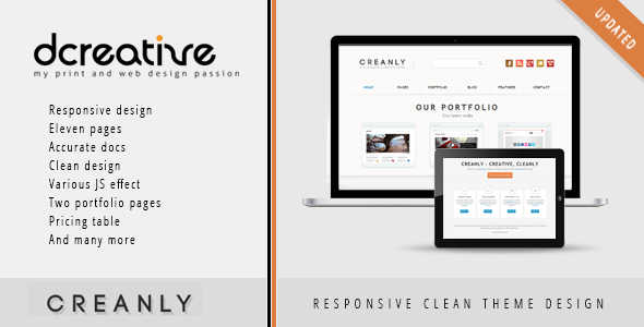 Creanly – Responsive Clean Theme Design