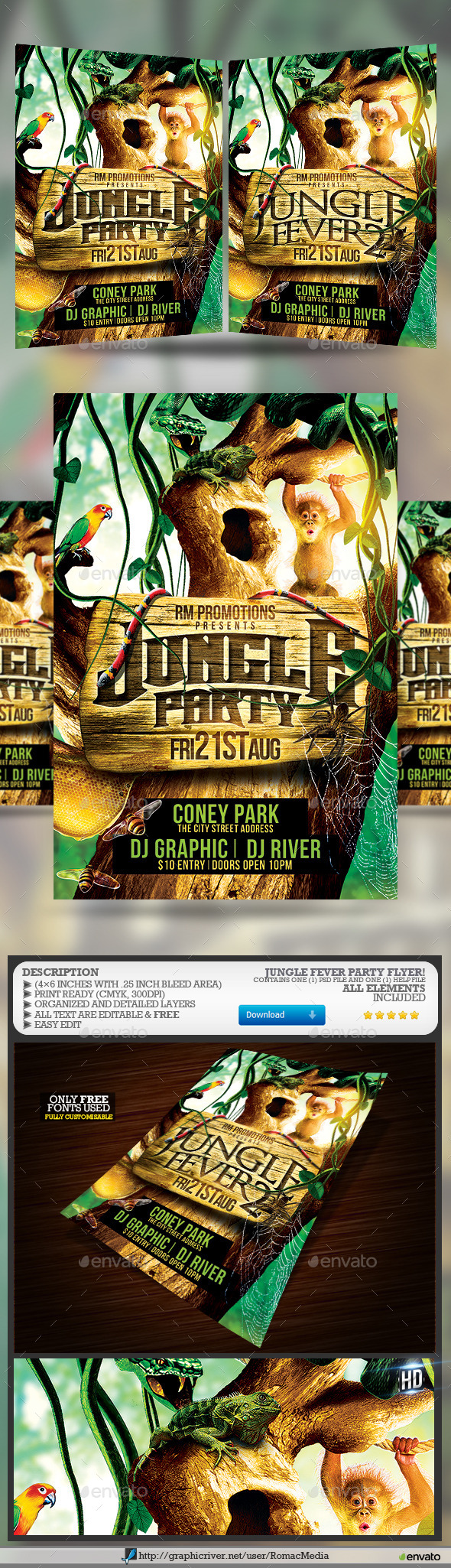 Jungle Fever Party - Clubs & Parties Events