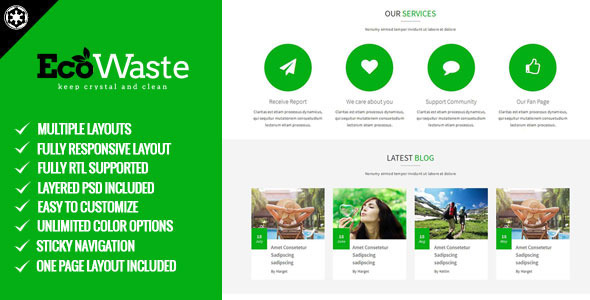 Image of EcoWaste - Environmental HTML5 Theme