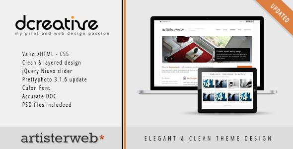 Artister – XHTML Portfolio, Agency Clean Theme