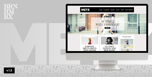 Metz – A Fashioned Editorial Magazine Theme