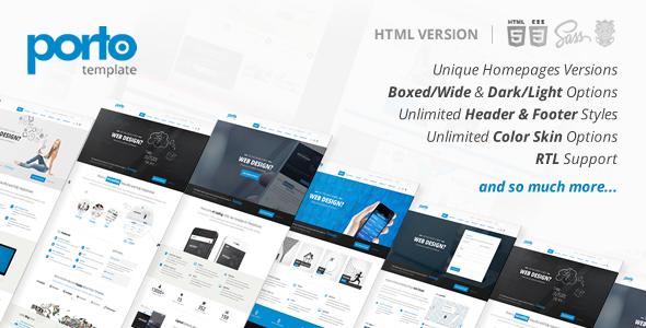 Porto – Responsive HTML5 Template