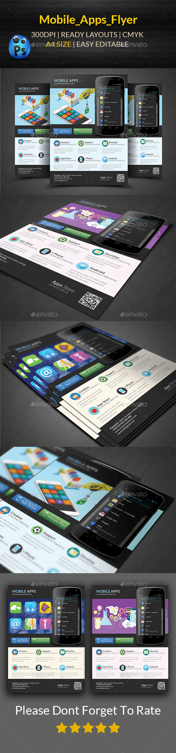 Mobile App Flyers Templates - Corporate Flyers