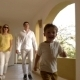 Parents And Child In Hotel Corridor - VideoHive Item for Sale