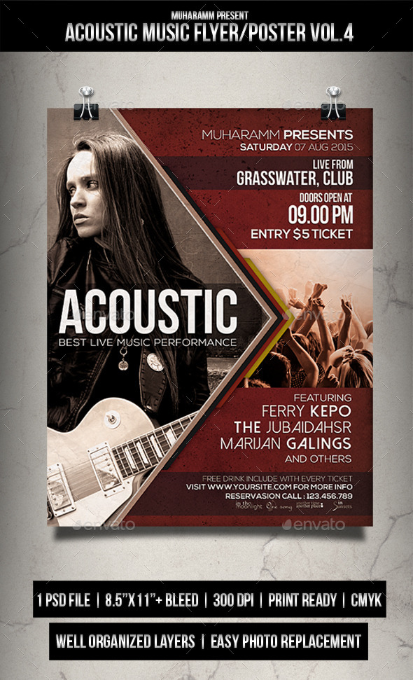 Acoustic Music Flyer / Poster Vol.4 - Events Flyers
