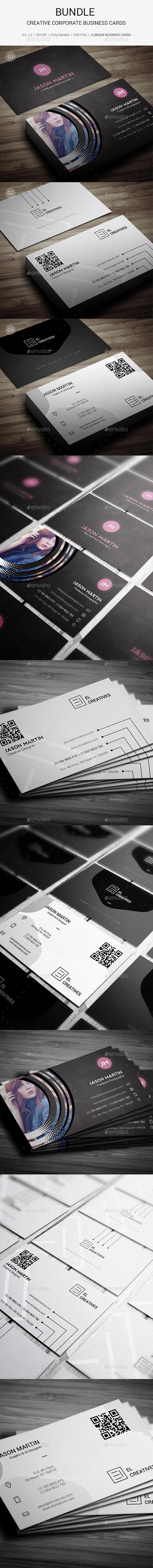 Bundle - Creative Corporate Business Cards -133 - Creative Business Cards