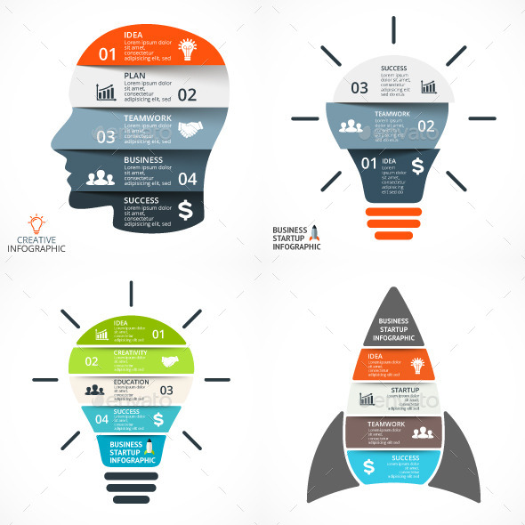 Startup Business Infographics Set - Infographics