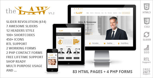 The Law – Lawyer Legal Attorney HTML5 Template