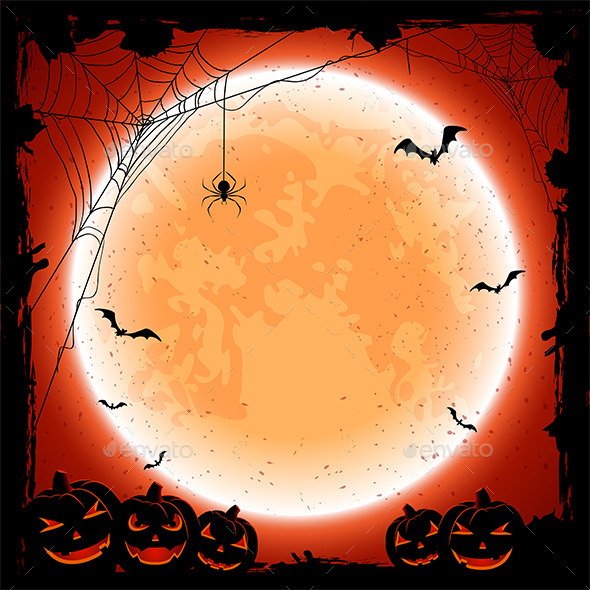Halloween Background with Moon - Halloween Seasons/Holidays