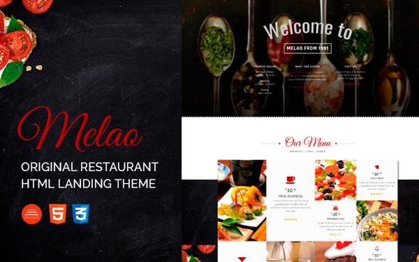 Melao Restaurant Landing Page Template