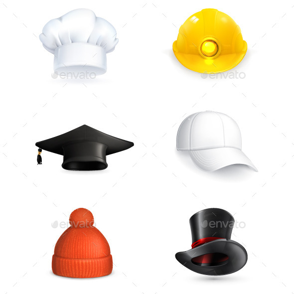 Hat Icons - Man-made Objects Objects