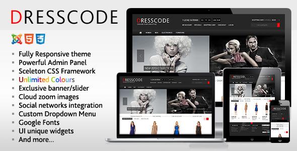 Dresscode - Responsive Joomla VirtueMart Theme - VirtueMart Joomla