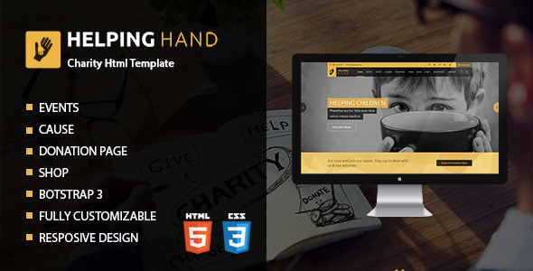 Helping Hand | Charity Donation HTML Template