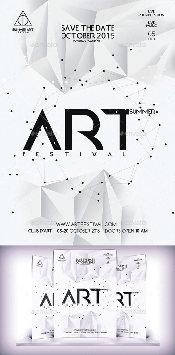 Summer Art Festival Flyer - Flyers Print Templates