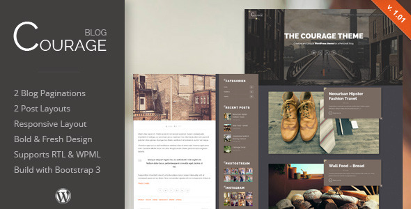 Courage – WordPress Creative Blog Theme