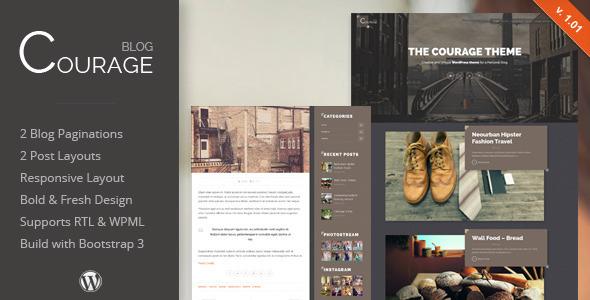 Courage - WordPress Creative Blog Theme