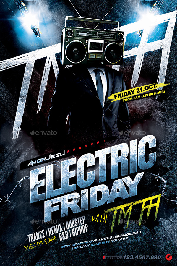 electric friday flyer template by amorjesu