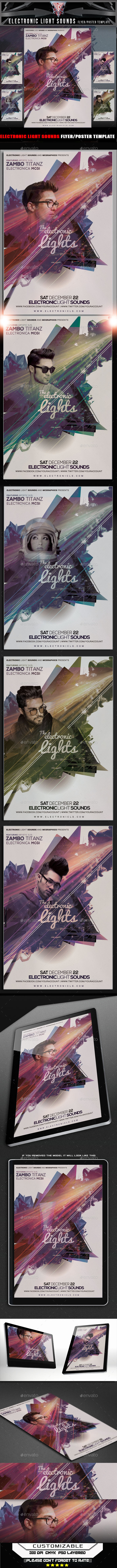 Electronic Lights Flyer Template - Flyers Print Templates