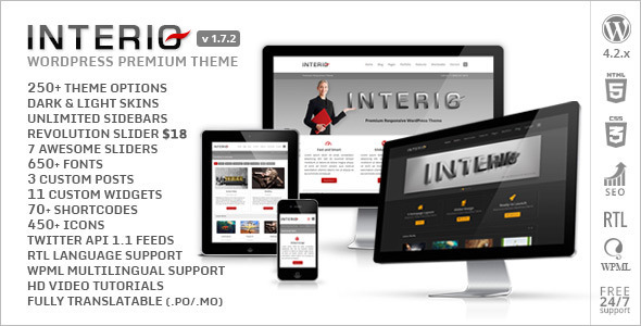 Interio – Responsive Multipurpose WP Theme + RTL