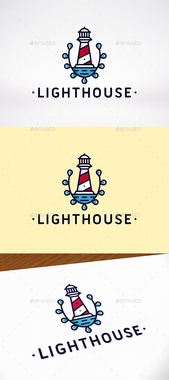 Lighthouse Crest Logo Template - Crests Logo Templates