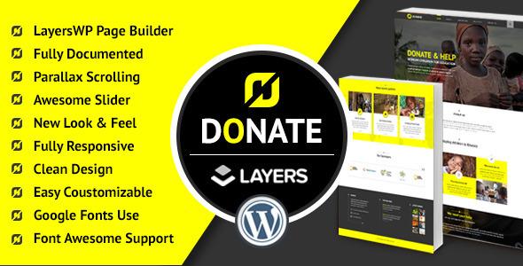 Donate - Nonprofit WordPress LayersWP Theme