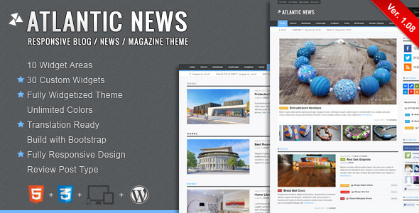 Atlantic News - Responsive WordPress Magazine Blog