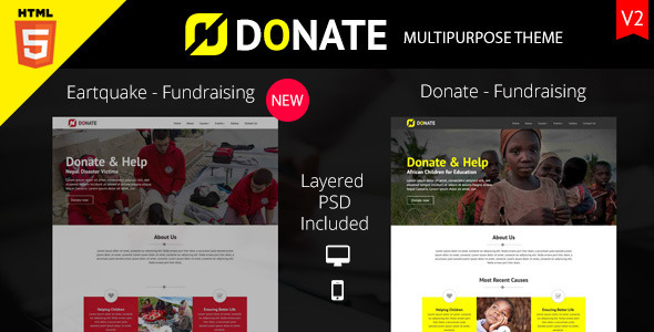 Donate – Multipurpose Nonprofit HTML Site Template