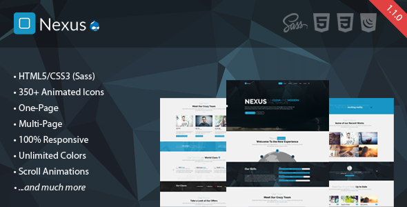 Nexus - Multi/One-Page Business Drupal Theme - Corporate Drupal