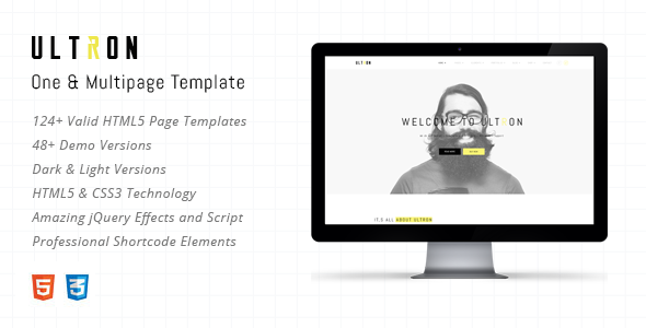 Ultron – Responsive One & Multi Page HTML Template