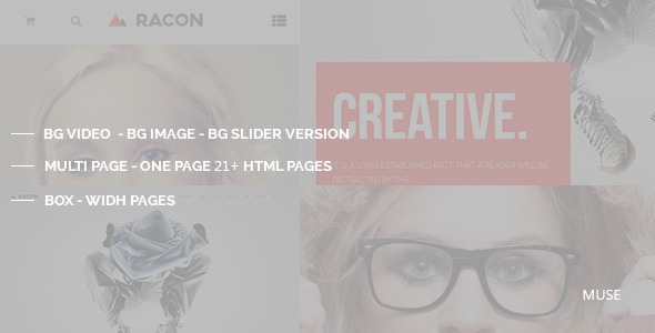 Racon – Muse Template