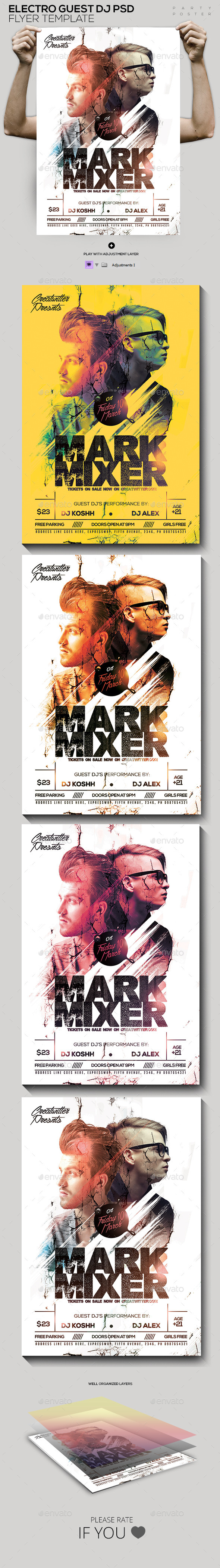 Guest DJ's PSD Poster/Flyer Template - Clubs & Parties Events
