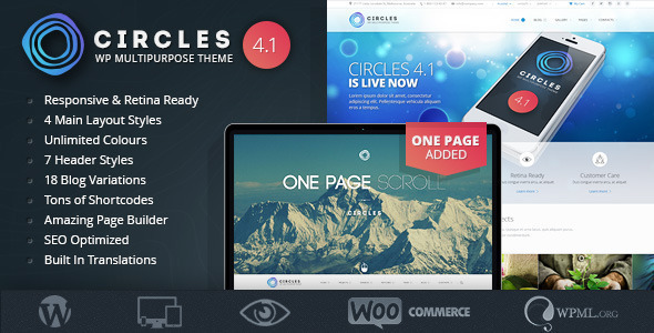 Responsive WordPress MultiPurpose Theme – Circles