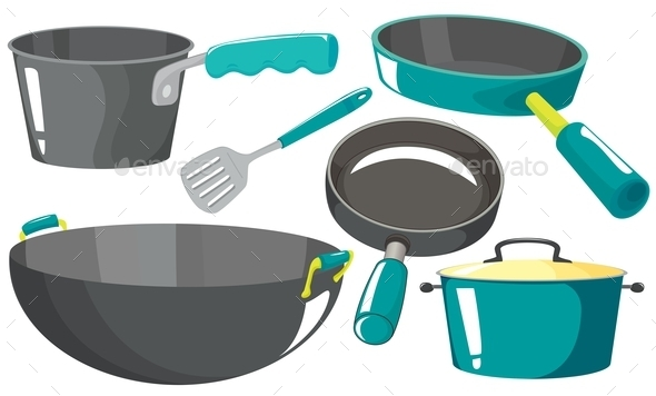 Kitchen Equipments - Objects Vectors