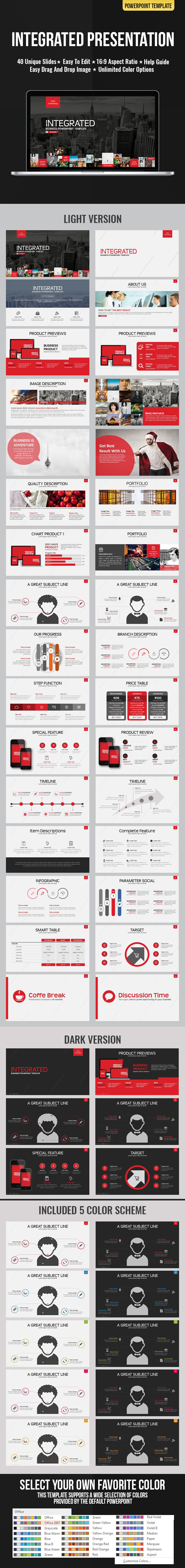 Integrated Presentation - Business PowerPoint Templates