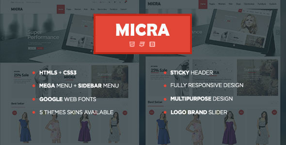 Micra - Multipurpose eCommerce HTML Template - Shopping Retail