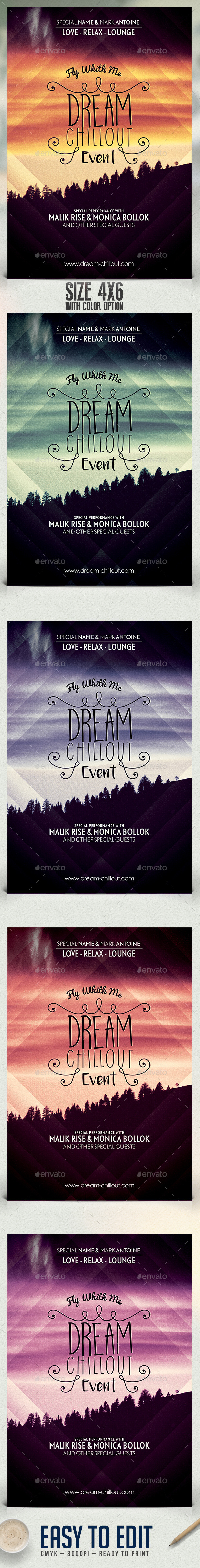 Dream Chillout Flyer Template - Clubs & Parties Events