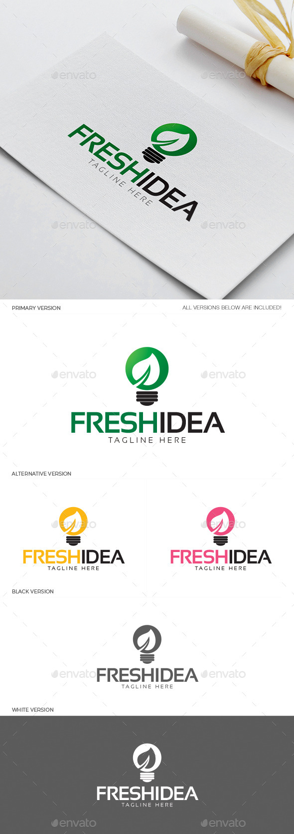 Fresh Idea Logo  - Objects Logo Templates
